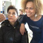 Com Sofia Aparício que participou numa curta metragem