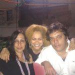 Com os colegas de trabalho Ana Leal e Vitor Enes