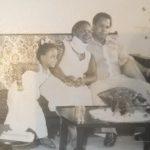 Na casa de Moçambique com os pais