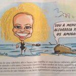 Uma caricatura da Conceição Queiroz