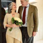 A tia Áurea e o Tia Chico, no dia do casamento que Vanessa preparou!
