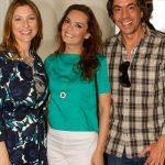 Adelaide de Sousa e Nélson Mateus dos Retratos Contados, com a actriz Melânia Gomes