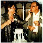 Na comemoração de 25 anos de casada com o Pepe Cardinali
