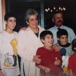Avós maternos com os netos 1998