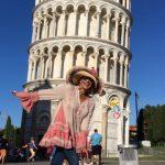 Em Pisa Itália