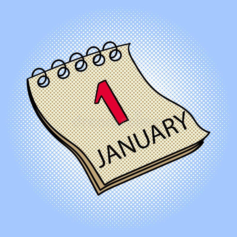 calendário-ilustração-do-vetor-do-pop-art-do-de-janeiro-83333702