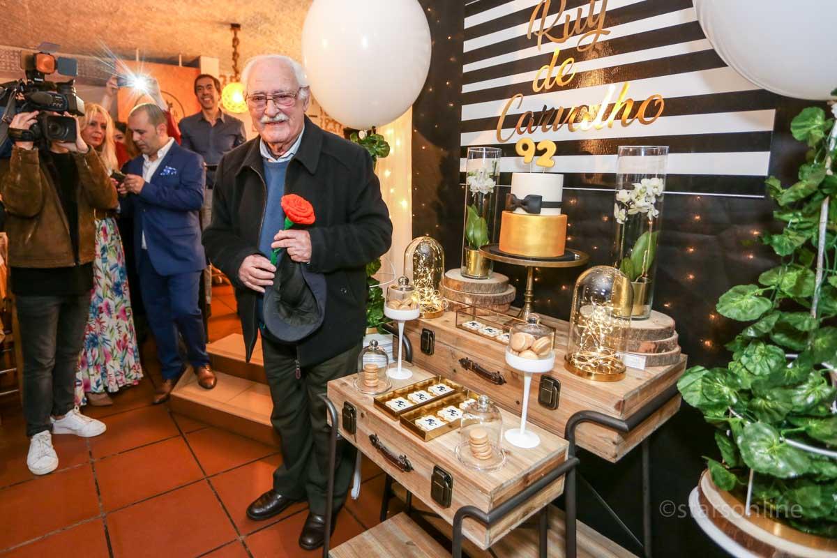 O actor Ruy de Carvalho. Evento: Festa comemorativa do 92º aniversário de Ruy de Carvalho, restaurante Páteo de Cascais, Bicesse, 01.03.2019